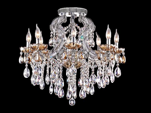水晶半吸頂燈(V-0451)